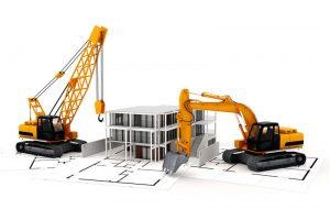 Construcción de casa prefabricada y tradicional