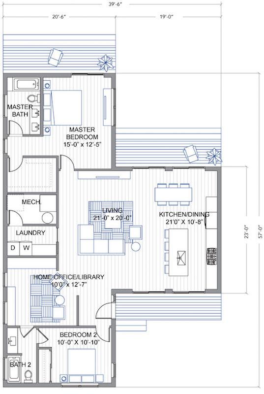 Planito de la casa modular