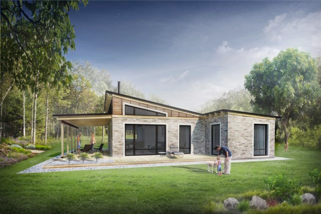 30 dise os de casas impresionantes de diferentes - Diseno de jardines para casas de campo ...