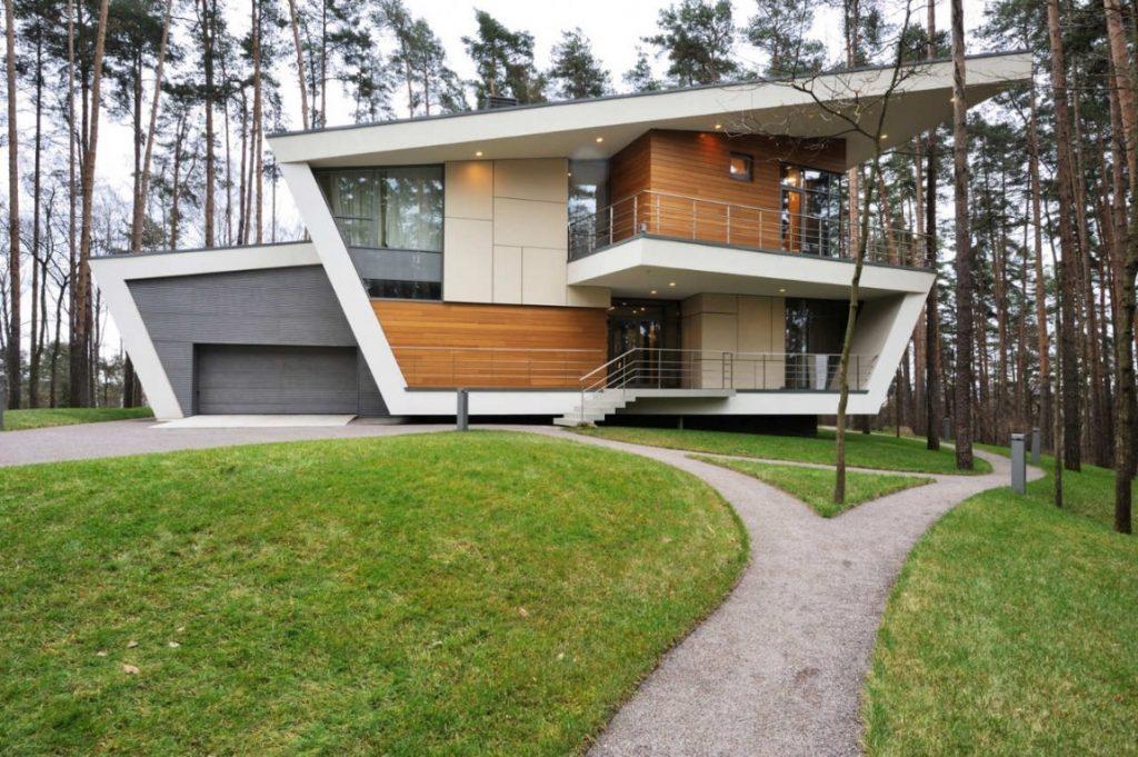 30 dise os de casas impresionantes de diferentes for Las mejores fachadas de las villas