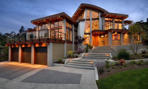 Diseños de casas rojizo