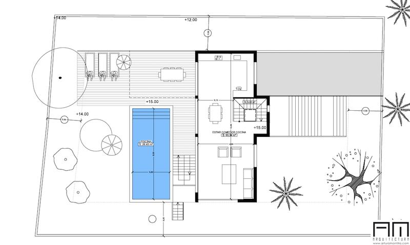 Planos chalets modernos trendy plano de chalet casas con for Planos de chalets modernos