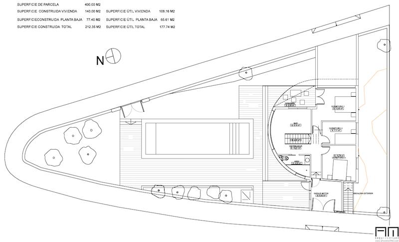 plano casa redonda marbella
